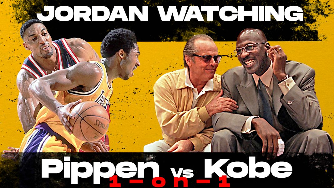 Jordan watches Kobe Bryant vs. Scottie Pippen (1999)