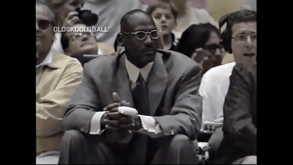 michael jordan watches kobe bryant