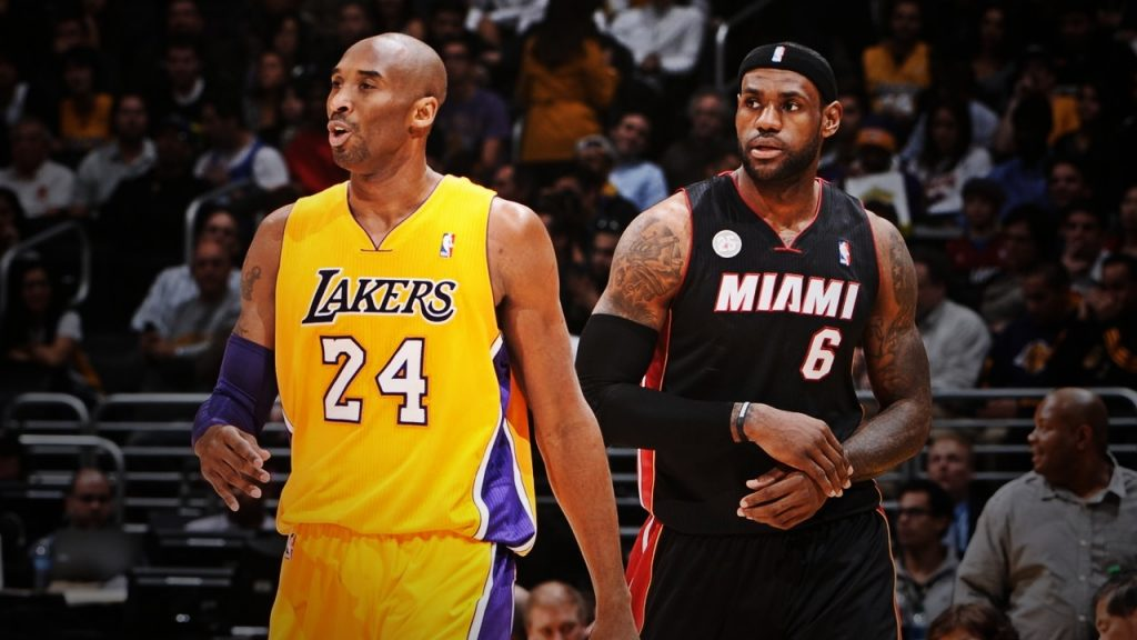 lebron james and kobe bryant in 2013