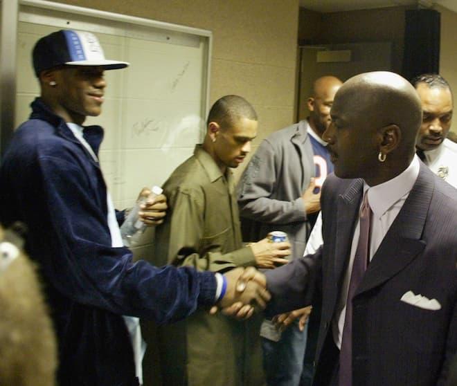 LeBron James meets Michael Jordan in 2003