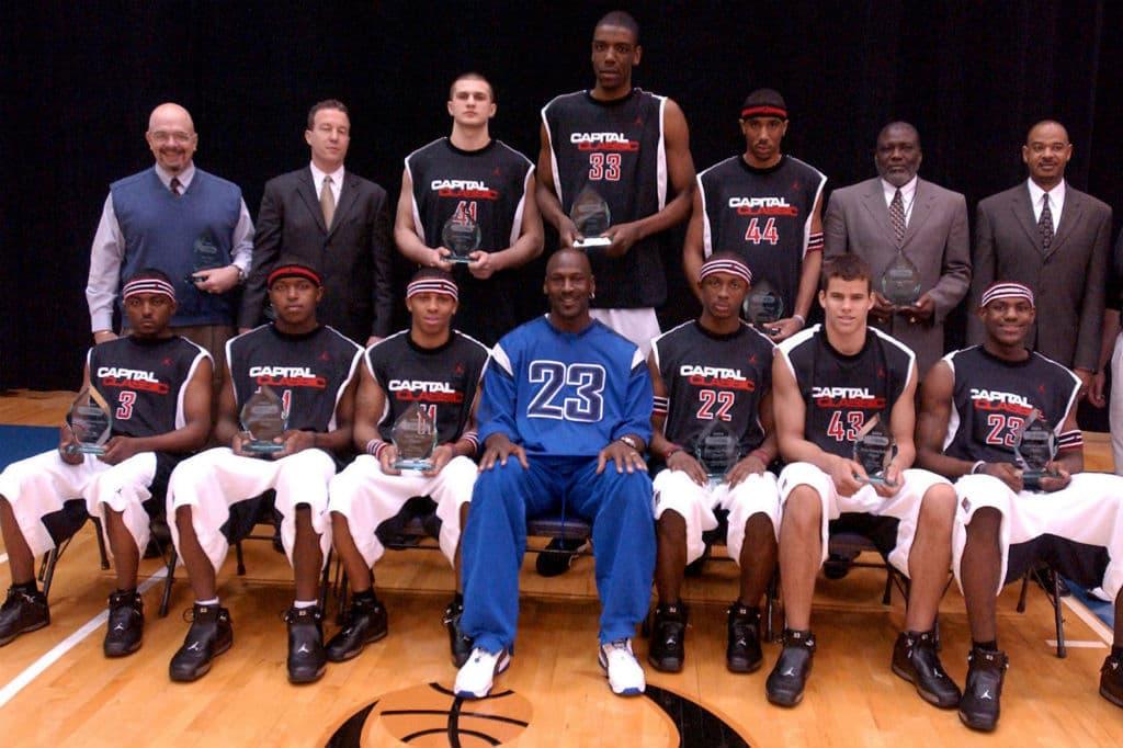 LeBron James during 2003 Jordan High School Camp