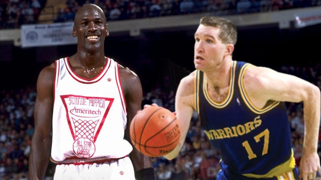 Michael Jordan and Chris Mullin Warriors Practice Story