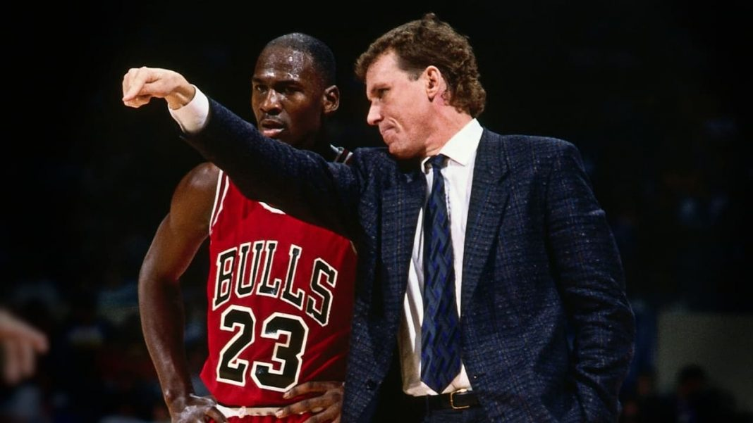 Michael Jordan and Doug Collins