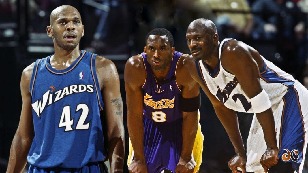 Jerry Stackhouse, Kobe Bryant and Michael Jordan
