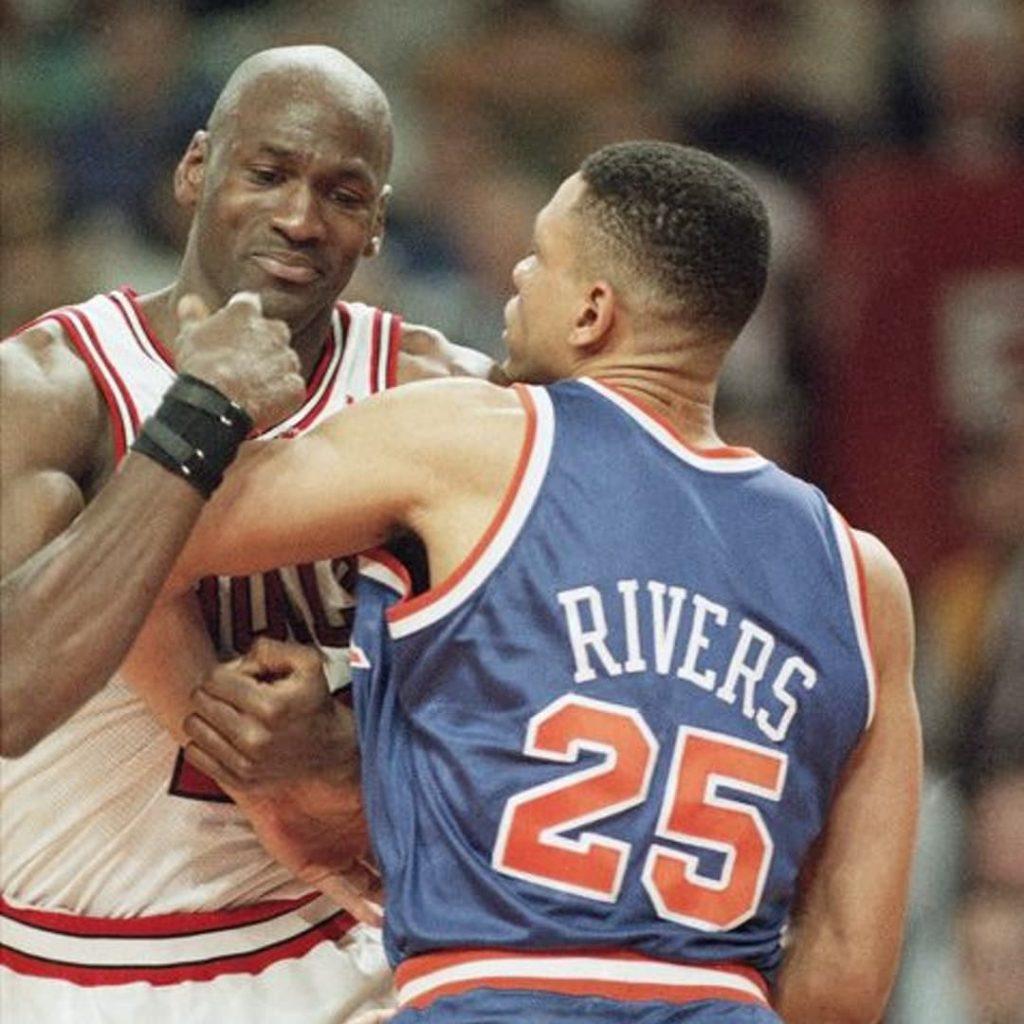 doc rivers knicks guard michael jordan