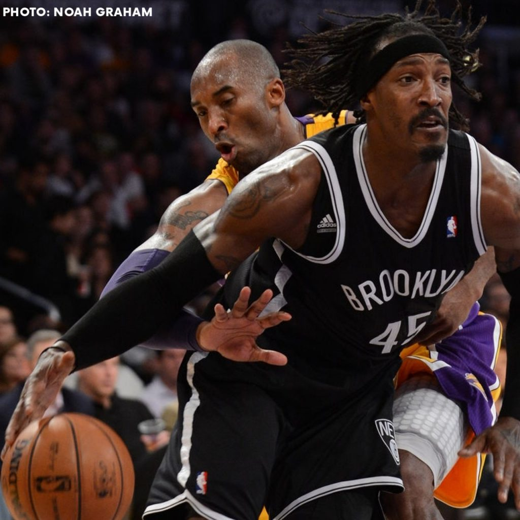 Kobe Bryant and Gerald Wallace