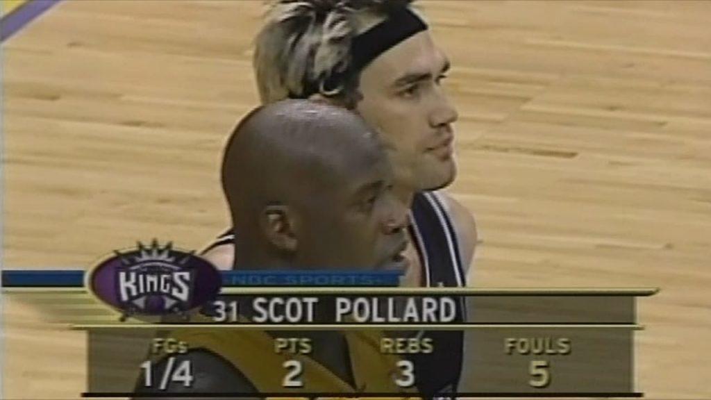 Lakers Vs. Kings 2002 Game 7 Pollard Foul Trouble