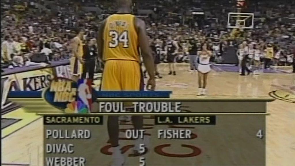 Lakers Vs. Kings 2002 Game 7 Kings Foul Trouble